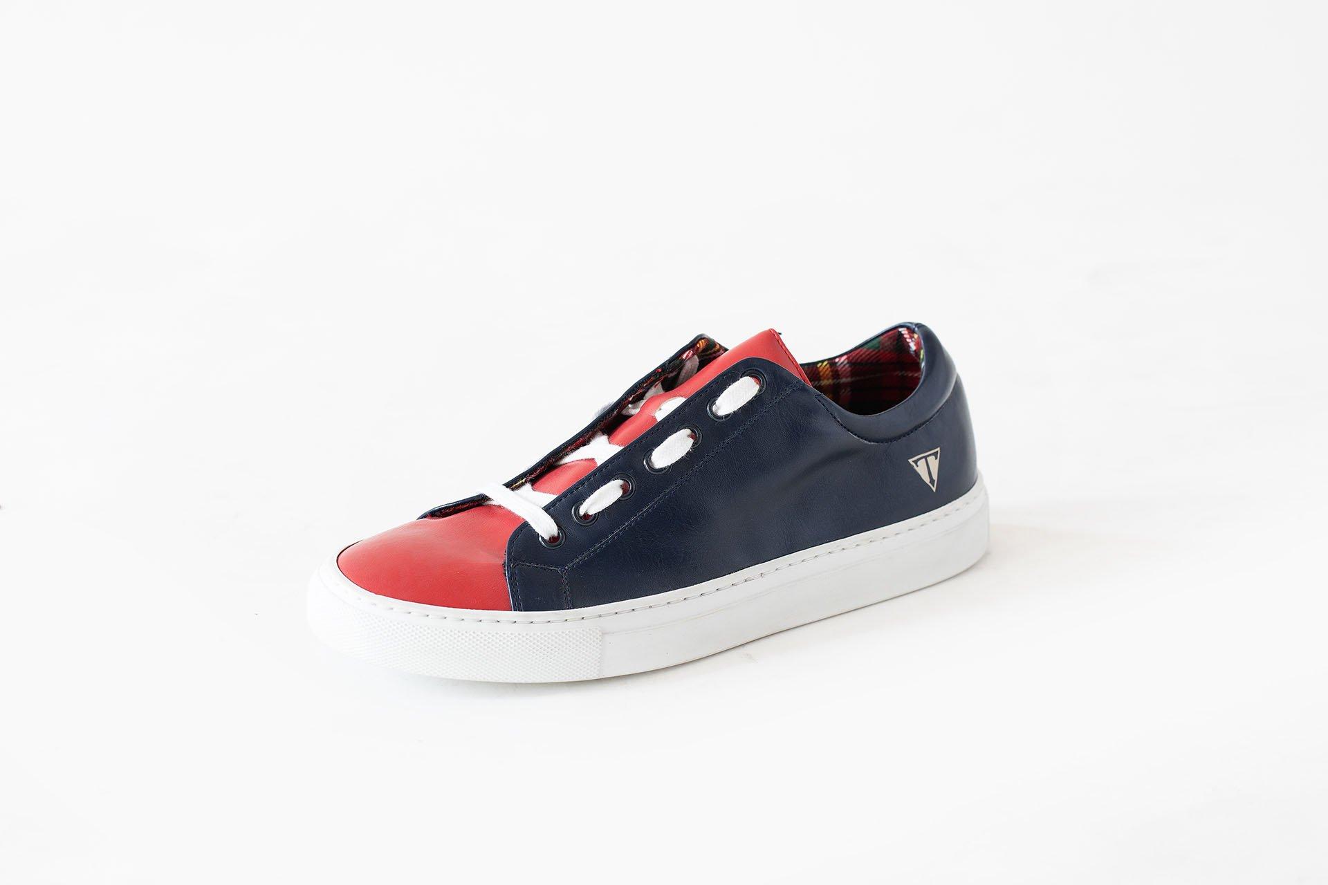 Sneakers-basso-microfibra-blu-A1