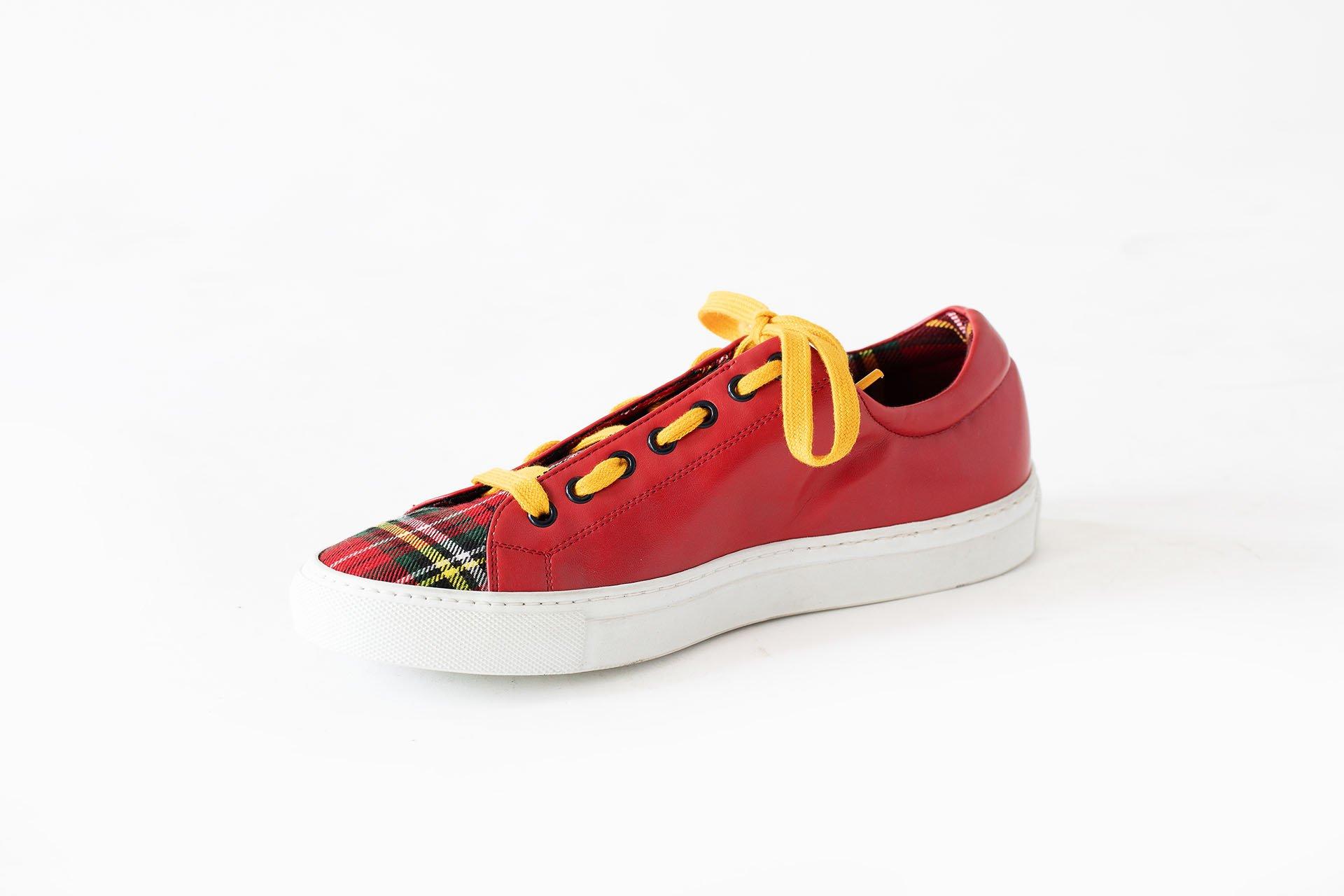 Sneakers-basso-tessuto-microfibra-rosso-A1